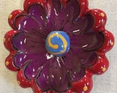 Red and Purple 3D Flower ...
