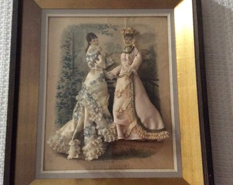 Antique French Fashion Plates x 3