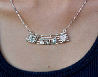 """Series """"I Love Music"""", Pentagram with musical instruments"""