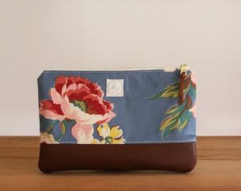 Floral Zipper Clutch