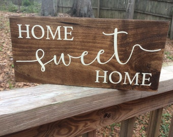 Home Sweet Home Wood Sign, living room decor, home decor, wall decor, wood sign, gallery wall