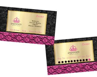 Paparazzi business card, marketing, branding, loyalty card