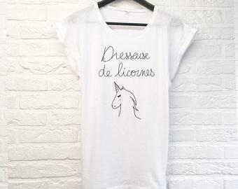 "T-shirt woman ""Trainer of Unicorn"""