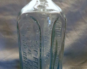 Vintage Pharmacy Bottle, Dr Peter Fahrney and Sons