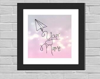 Paper airplane custom print
