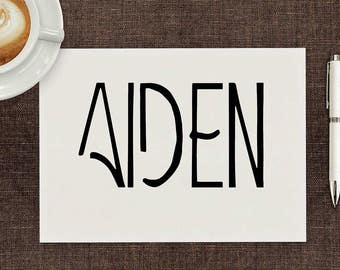 Aiden Art-Deco Font