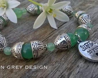 Listen To Your Heart Green Aventurine Bracelet