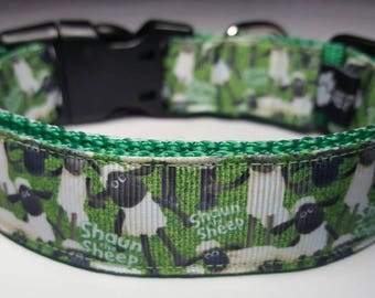 Shaun the Sheep Dog Collar