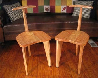 Nakashima Inspired Quarter Sawn Red Oak Concordia Chairs