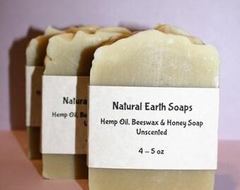 Hemp Oil, Bees Wax & Honey, Unscented