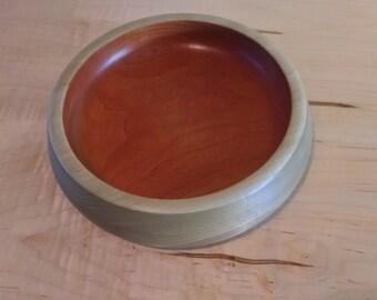 Dyed poplar bowl
