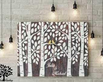 70 x 50 vintage tree guest book, wedding tree, wedding gift, wedding, guest book