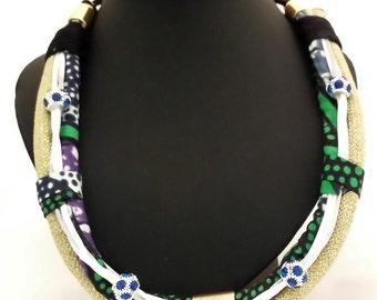 ras Green/gold neck collar