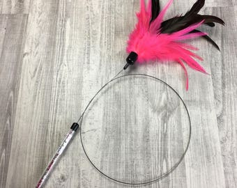 Cat toy | XL feather crown - hot pink | Feather cat toy | Lure cat toy | Interactive cat toy | Bestseller at shows |