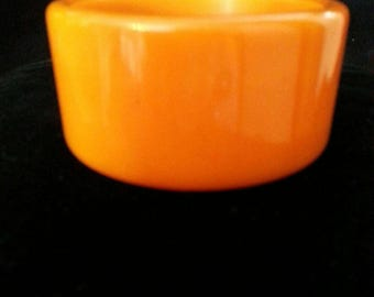 WIDE Orange BAKELITE BANGLE