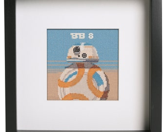 Star Wars BB-8 Cross Stitch Pattern For The Force Awakens Cross Stitch Enthusiasts And Star Wars Fans
