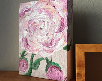 Abstract Peony Painting