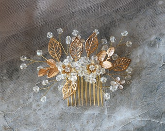 Crystal Bridal Hair Vine Comb Rhinestone Wedding Headpiece