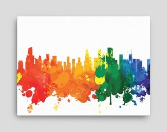 Chicago Skyline Canvas Print - Chicago Illinois - Cityscape, Home Decor, Office Decor