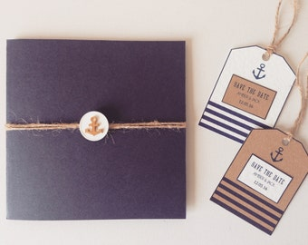 Nautical themed wedding invitations sailor wedding stationery