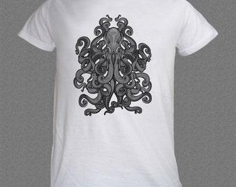 Alien Octopus Ocean Scuba Diver Fish Diving T-shirt