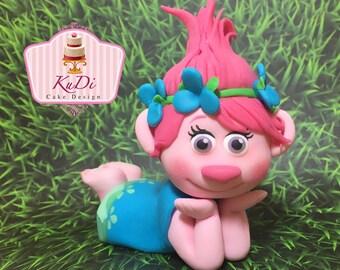 Trolls poppy 3D Cake Topper fondant