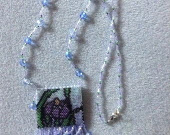 Stained glass iris amulet bag