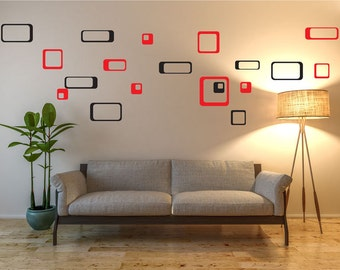 Rectangles Wall Decals, Squares Wall Decals, Wall Stickers, Wall Art Stickers, Home Decor, Living Room Decor, Wall Decor For Living Room