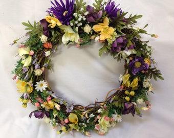 Purple & Yellow Wreath