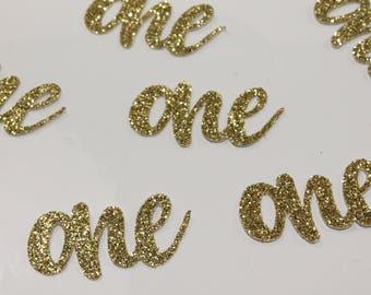 One Confetti – Glitter One Confetti – Gold Glitter Confetti – First Birthday Confetti – First Birthday Table Decorations – Birthday Confetti