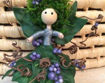 Whimsical Woodsy Fairy Doll, Fairie, Fairy Tale Doll, Fairy Garden Doll, Miniature Fairy Doll, Flower Petal Doll, Woodland Fairy.