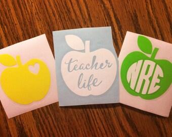 Teacher Apple Decals