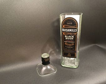 HANDCRAFTED Up-Cycled 750ML Bushmills' Black Bush Irish Whiskey BOTTLE Soy Candle. Made To Order !!!!!