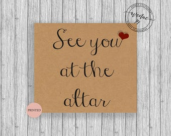 See You At The Altar Card 5x5 Personalized