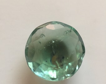 Green Round Faceted Tourmaline Gemstone