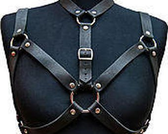 Harness,harness with buckles,leather body harness