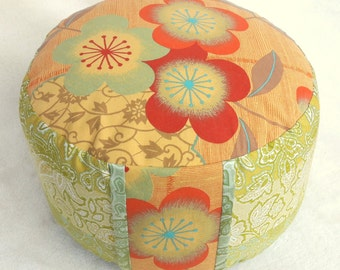 Meditation cushions, yoga pillow Bassetti fabric Yoga meditation tantra zafu bolster
