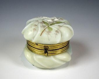 Wavecrest Art Glass Trinket or Dresser Box C.F. Monroe