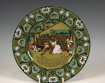 Emerald Deldare Dr. Syntax Plate by Buffalo Pottery