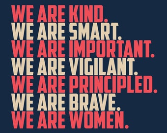"Printable, digital  18x24 Women's March poster ""We Are Kind"""