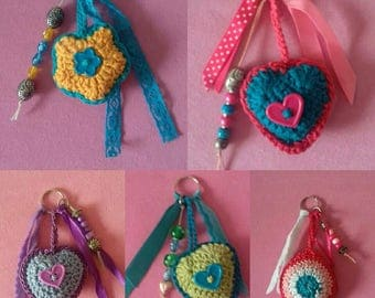 Key chain heart, flower or other form