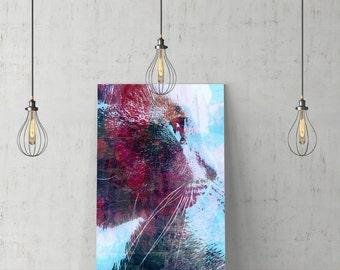 Cat print/wall art/wall decor/wall art prints/printable/digital print/digital download/animal art/art decor poster/poster/home decor