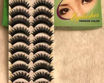 10 Pairs Makeup Model 21 False Eyelashes, Brand new, Women Wear, Makeup