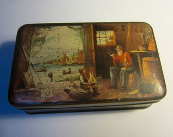 Vintage Australian Pascall Sweets Advertising Tin 'Tales  of The Sea', Rectangular C.1950's Claremont, Tasmania