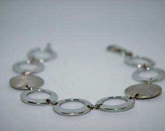 Vintage Disk Sterling Silver Bracelet