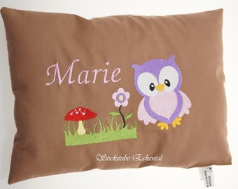 Cushion OWL name Marie