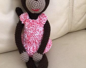 Handmade Crocheted Monkey