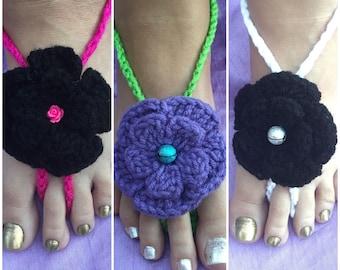 """Barefoot Sandals """"Boho"""" Crochet"""