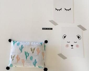 "Lavender pillow ""Cactus"""