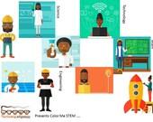Color Me STEM POC Refrigerator Magnet African American Images